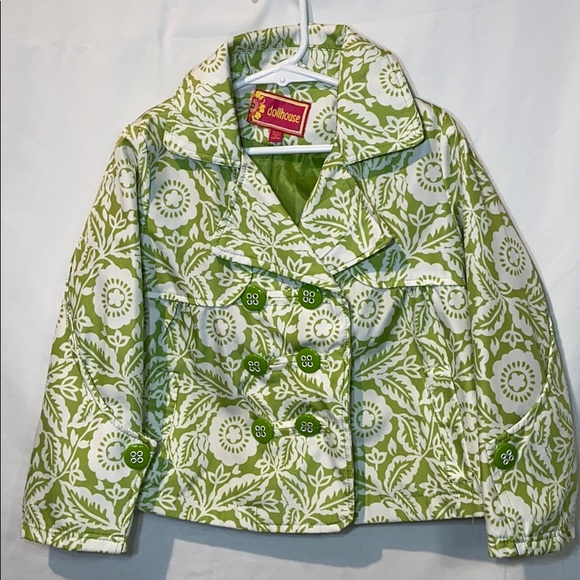 Dollhouse Other - Dollhouse Little Girls Raincoat Jacket  S(4) Green